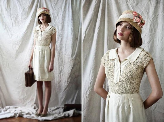 free shipping cocktail dress made in Canada by designer Jack Liebman CIRCA 1960'S