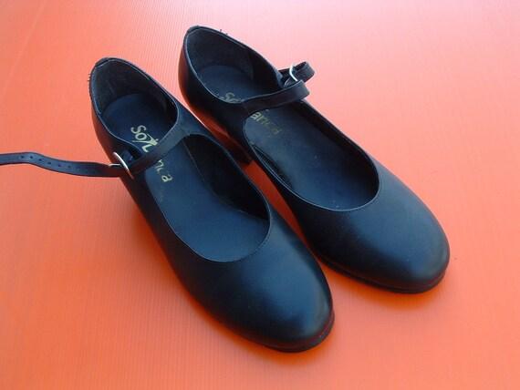 Flamenco black shoes size 39 unaware circa 10990's made in Brazil