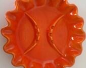 Vintage Orange Ashtray, Red Wing Pottery, Madmen Era Circa 1960
