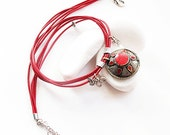 authentic ethnic Afghan silver red coral necklace unique handmade easter wedding