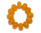 Handmade lampwork spacer glass beads - yellow