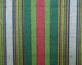 Handmade Traditional Stripey Cotton Bekasam Fabric (1.75 yards)