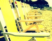Beach Chairs   Vintage Feel   5x7 Photograph