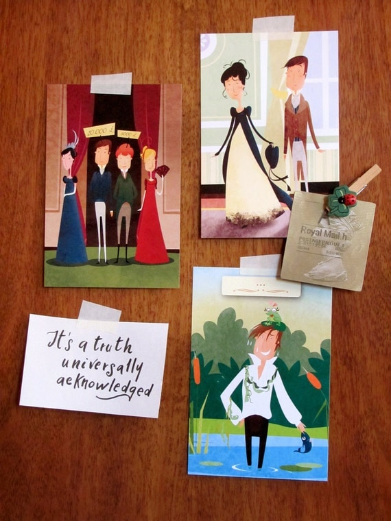 Jane Austen - Pride and Prejudice postcards (set of 6)