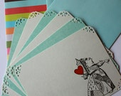 Queen of Hearts Note Cards & Stamped Envelopes (Set of 6)