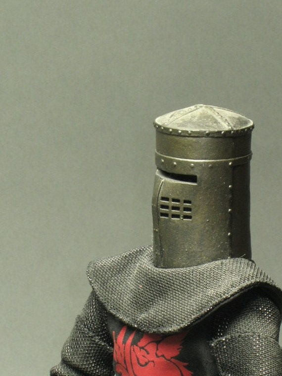 Vintage MONTY PYTHON Black Knight and The Holy Grail collectible doll -- large and complete with stand