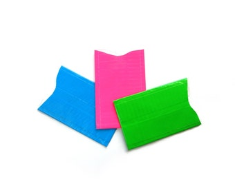Set of 3 RFID blocking credit card protector, choose your colour