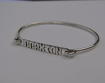 Stacking Name Bracelet - Personalized Bracelet - Name Bangle