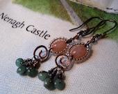 Celtic Spiral Drop Earrings - Celtic Jewelry