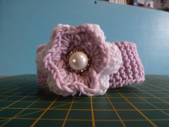 Half price sale - Pink and white newborn or doll headband