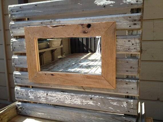 Shop Checkolite International 4 Light Ashfield Rustic: Rustic Mirror Featuring Reclaimed Barn Wood Frame