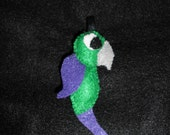 Green and Purple Parrot Keychain