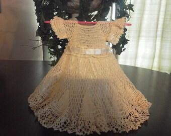 twirly cream crocheted dress  sz 18 mo