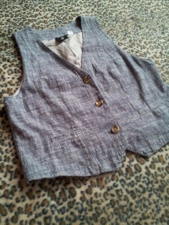 Vintage Grey Menswear Speckled Vest. Unisex. M/L
