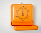 Soehnle orange kitchen wall scale