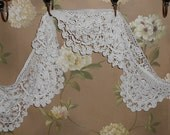 PRICE LOWERED...Lace, Crochet Antique Edging all in one round of 125 in. total Use for Dressmaking, tablecloth, etc. to your desire