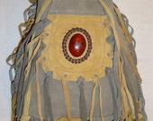 hanmade leather suede rucksack bag