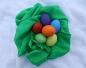 Playsilk for your Easter Basket - beautiful green 35 X 35 inch playsilk Reusable Easter Decoration