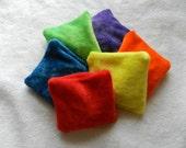 TWELVE Bean Bag Set with Carry Bag - Organic Bamboo Velour, machine washable option