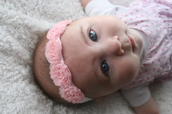 15% OFF, Baby Headbands, Baby Girl Flower Headband, Baby Bows Headband, Infant Headband, Baby Bow, Photo Prop, Girl Headband, Chiffon