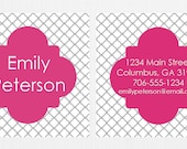 Pink & Gray Frame Calling Cards