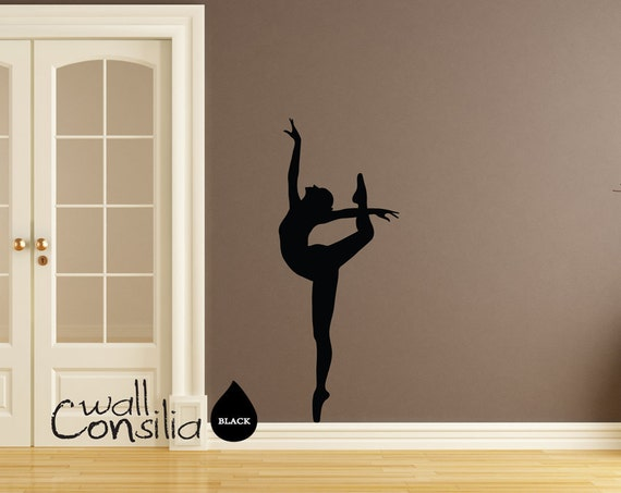 Ballerina Wall Decal Ballerina Wall Sticker Dancer Wall