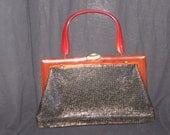 Whiting and Davis Mesh Bag with Bakelite Handle