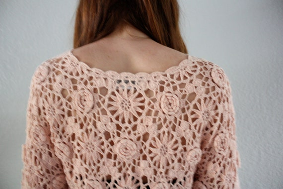 Lady Daydream Pink Eyelet Blouse (SMALL/MEDIUM)