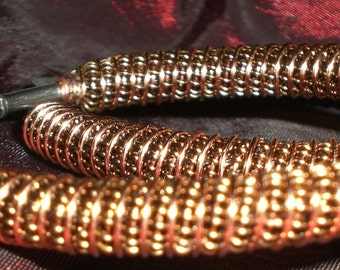 Large Hoop Earrings, Brass Hoop earrings, Hoop Earrings, Wire Wrapped Earrings