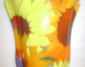 Sunflower Gardens Glass Pocket Vase