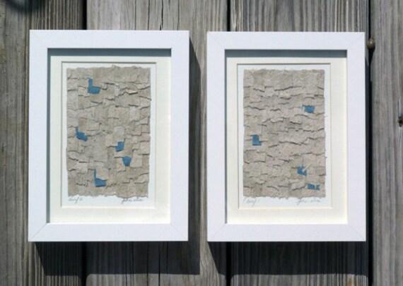 Contemporary Framed Collage Set Organic Beach Theme