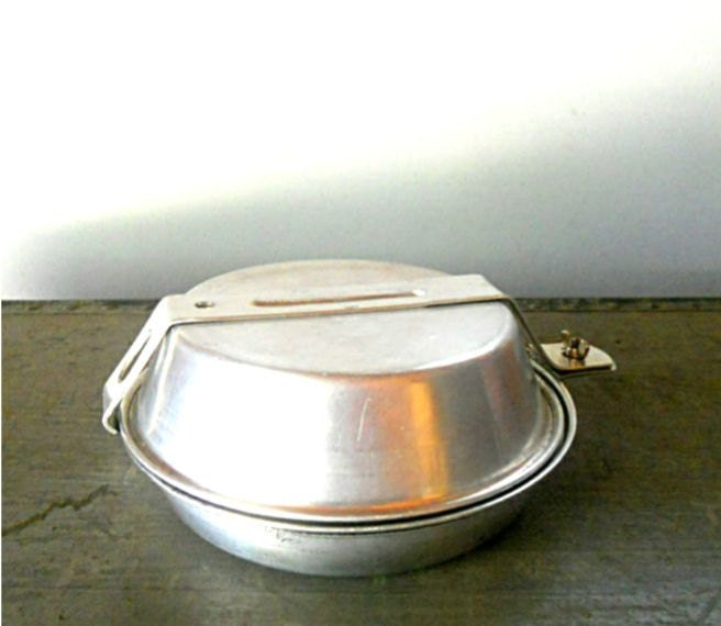 Vintage Mess Kit Camping Gear Wilderness Supplies Frying