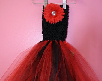 Tutu Dress ~ 3 months to 2 years old ~ Black Red Lady Bug
