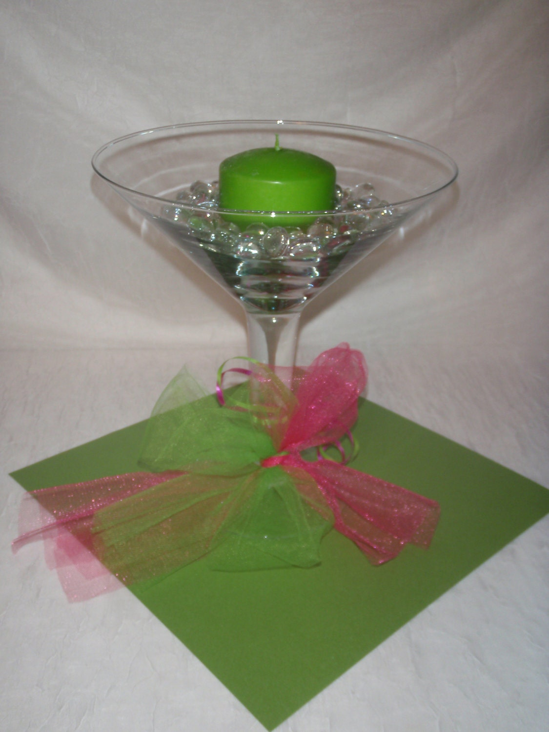 Wedding centerpieces martini glasses