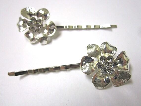 FREE Shipping US SYLVIA Collection Vintage Inspired Swarovski Crystal Rhinestone Bridal Hair Bobby Pin Set Wedding Hair Accessories