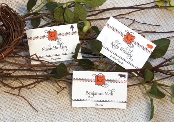 Wine Label Wedding Escort Cards- Get Started Deposit or DIY Payment