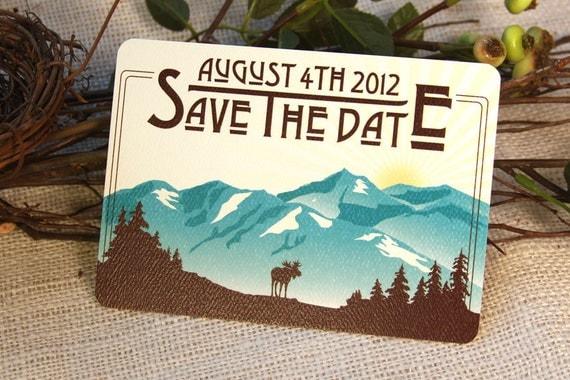 Denali Alaskan Mountains Save The Date Postcard: Get Started Deposit or DIY Payment
