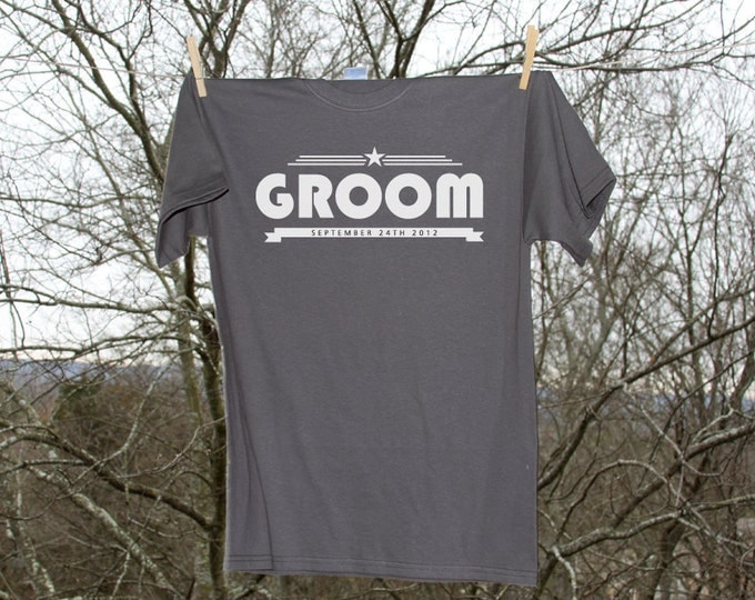 Groom Personalized Wedding Date Shirt