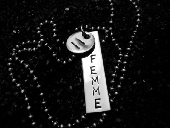 Hand Stamped FEMME Equality Necklace