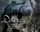 "DANCE: Inspirational Art on Archival Paper 8""x8"" (Neutral colors version)"