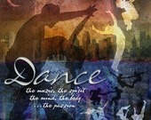 """DANCE: Inspirational Art on Archival Paper 8""""x8"""" (Bright colors version)"""
