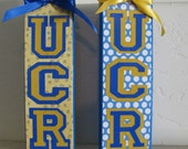 Custom order for Elizabeth A - UCR Wooden Blocks