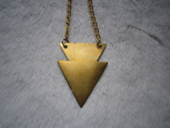 Double Gold Triangle Necklace
