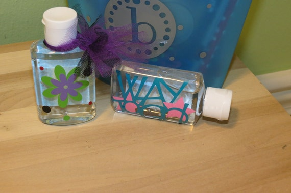 Decorated Bottles of Hand Sanitzer