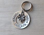 Custom Pet id tag with charm small