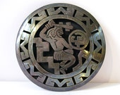 Sterling Silver TAXCO Aztec Circle Pin or Pendant