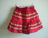 Vintage girl's ric rac tiered skirt // size 2T