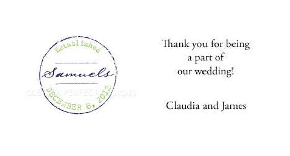 "Personalized Wedding Gratuity Vendor Tip Thank you Envelopes-""Established"""