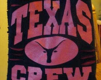 Black Texas Crew Recycled Tshirt Cross Body Bag