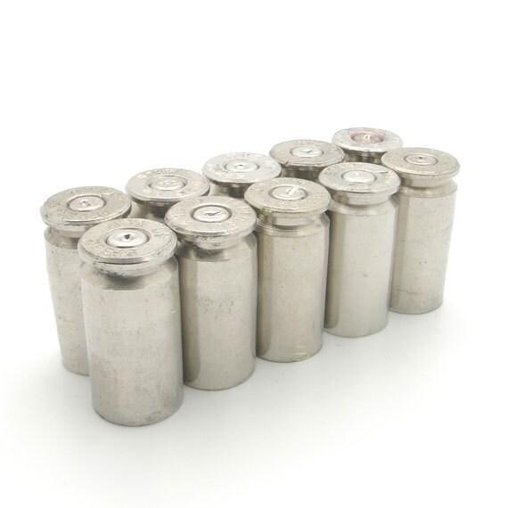 Total of 10 Silver 40 Caliber Bullet Casings